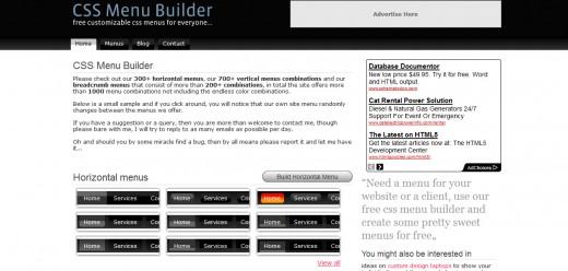 CSS Menu Builder