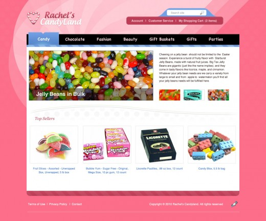 Create a Colorful Candy Store Website Layout in Photoshop