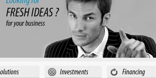 Create a consulting web layout – business layout