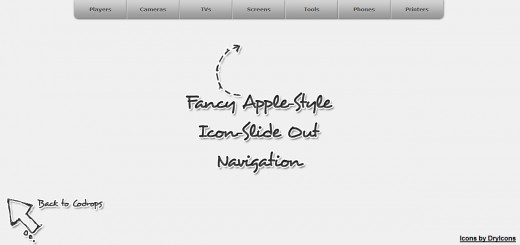 Fancy Apple-Style Icon Slide Out Navigation