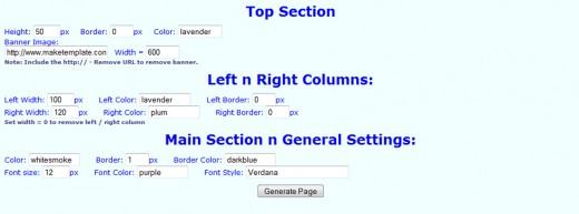 Free CSS Template Code Generator