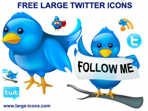 Free Large Twitter Icons