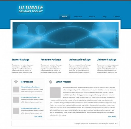 How to create an elegant wordpress PSD theme