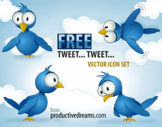 It's Twitter Time! Free vector icon set
