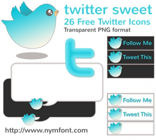 Twitter Sweet – 26 Free Twitter Icons