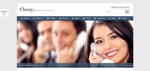 Classy Business & Portfolio WordPress Theme