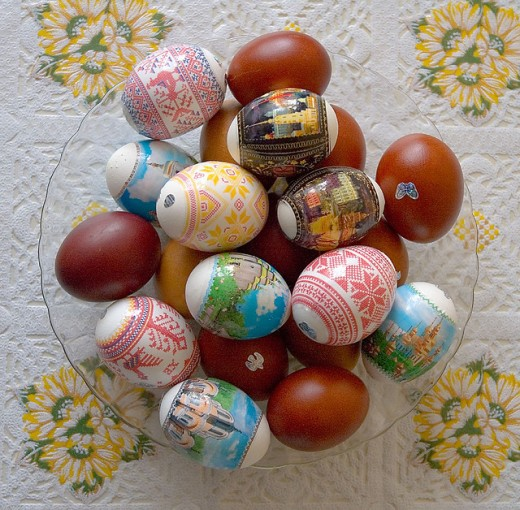 Easter eggs by Alex Kapranoff