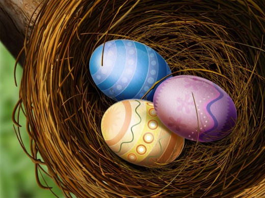 Easter eggs in nest wallpapers