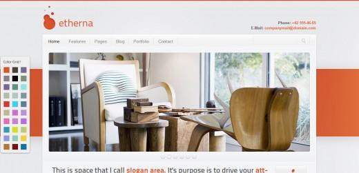 Etherna - powerful and flexible WordPress theme