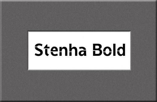 Stenha Bold Font
