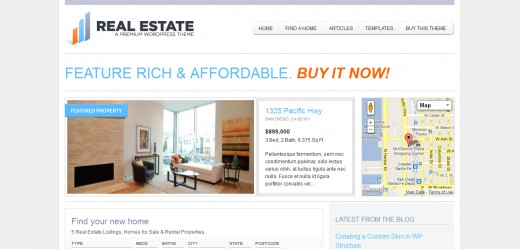 WP Pro Real Estate 2 WordPress Theme