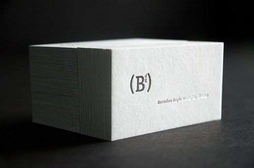 Cool White Business Cards