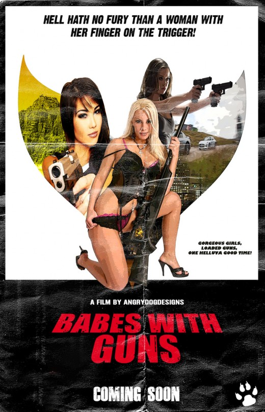 Poster Designs Ideas vector event poster design Babes With Guns Movie Poster