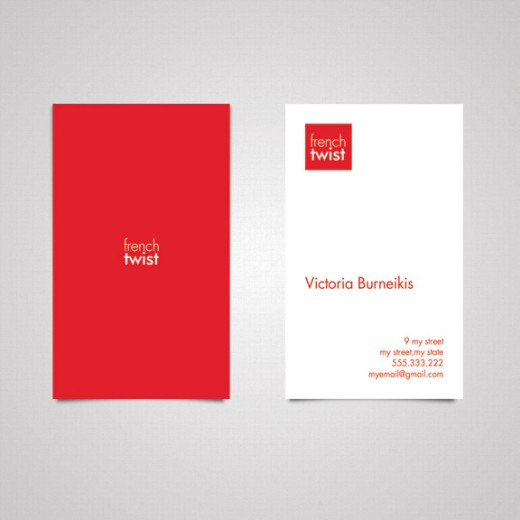 Red business card funfndroid red business card reheart Images