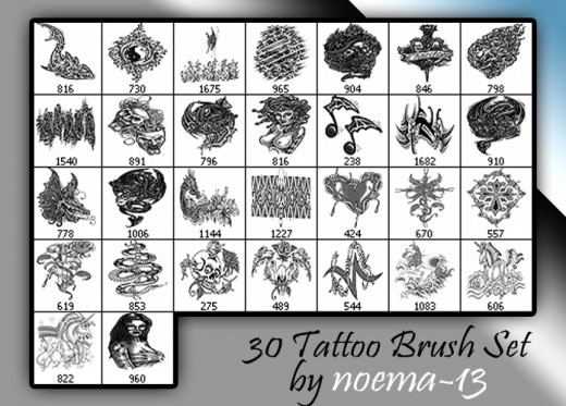 300 Free Tattoo Brushes For Photoshop Dotcave