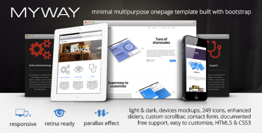 30 elegant premium wordpress parallax templates dotcave for Html5 parallax scrolling template free