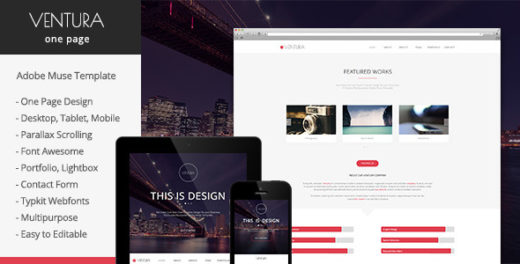 15 awesome premium muse templates dotcave for Adobe muse mobile templates