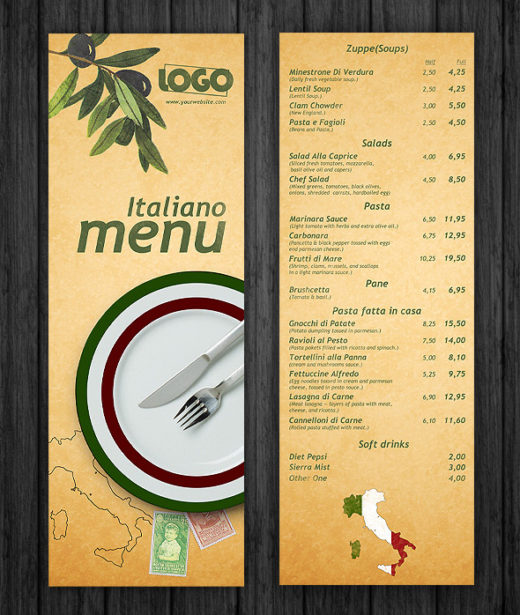 Unique Free Psd Restaurant Menu Templates  Dotcave