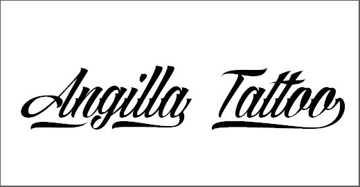 Angilla Tattoo Personal Use Font