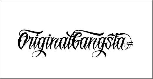 Original GangstA Font