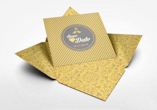 Free Invitation and Greeting Card Mockup