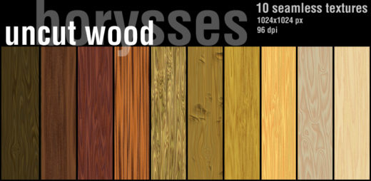 10 Seamless Textures of Uncut Wood
