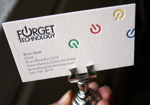 6 Color Letterpress Business Card