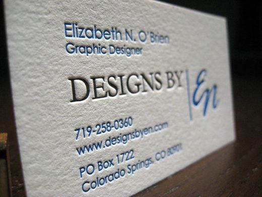 Graphic Designer Letterpress Card