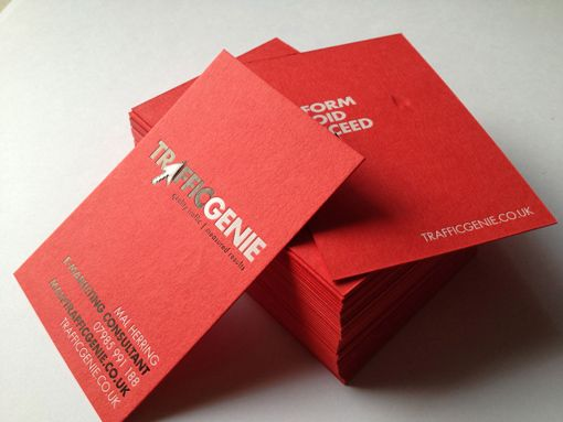Letterpress Red Business Card Trend