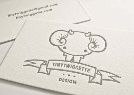 Tinytwiggette Brand Identity Business Card