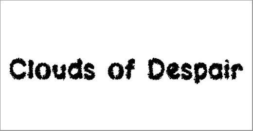 Clouds of Despair LSF Font - free chalkboard fonts